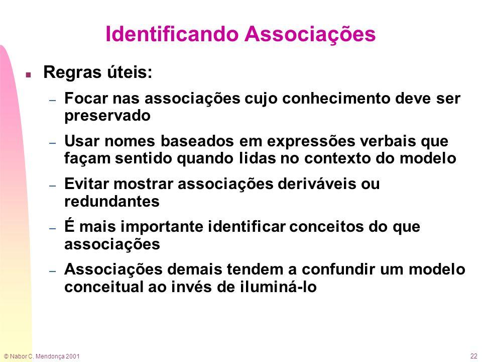 Identificando Associações