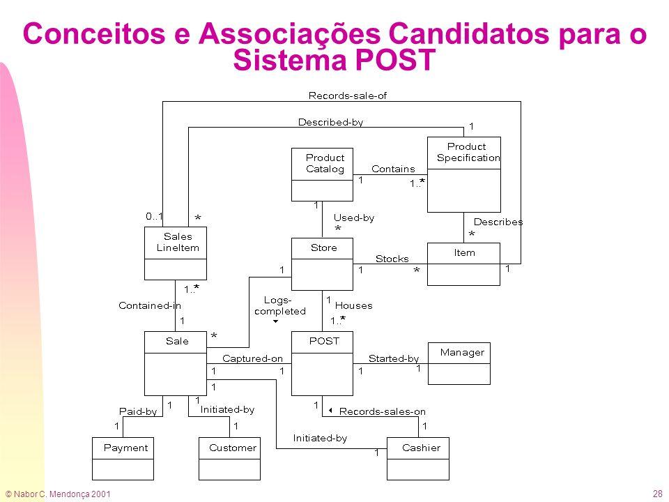 Conceitos e Associações Candidatos para o Sistema POST