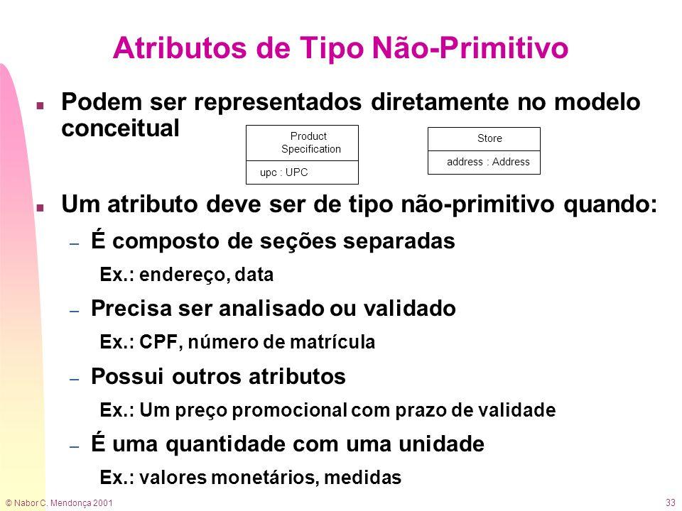 Atributos de Tipo Não-Primitivo