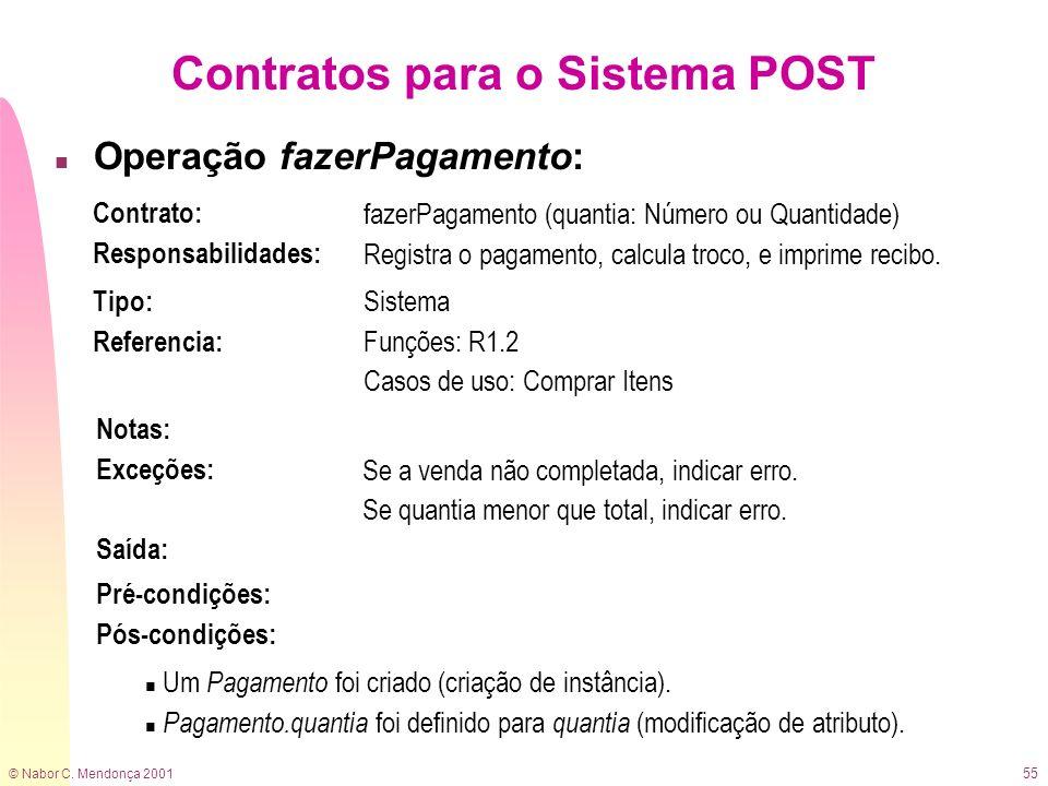 Contratos para o Sistema POST