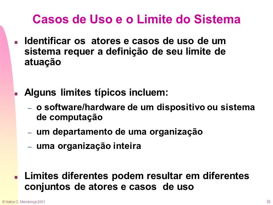 Casos de Uso e o Limite do Sistema