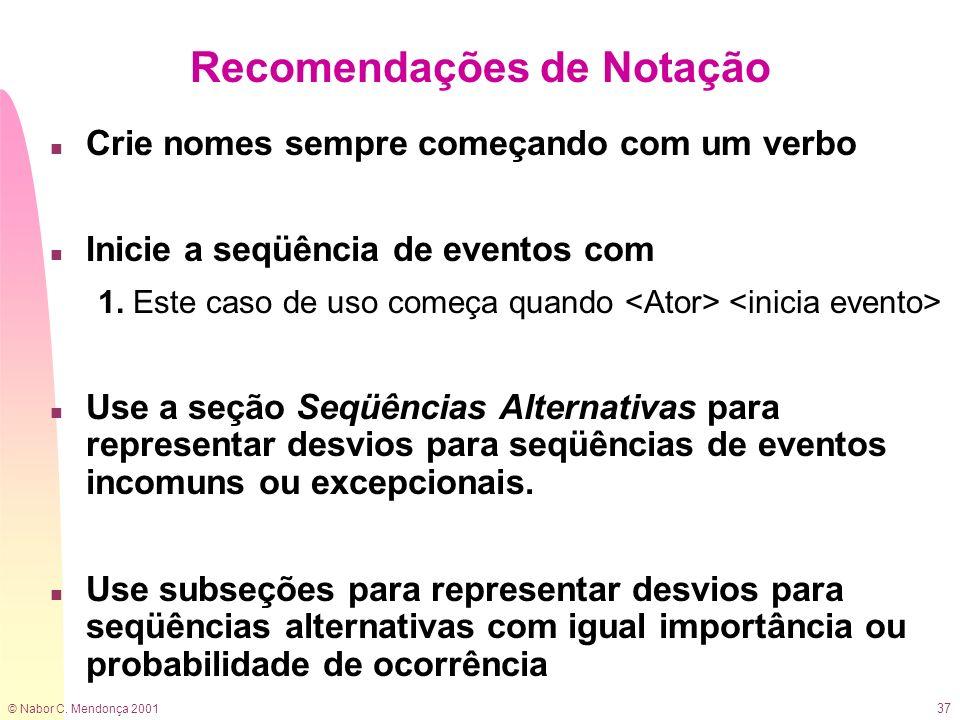 Recomendações de Notação
