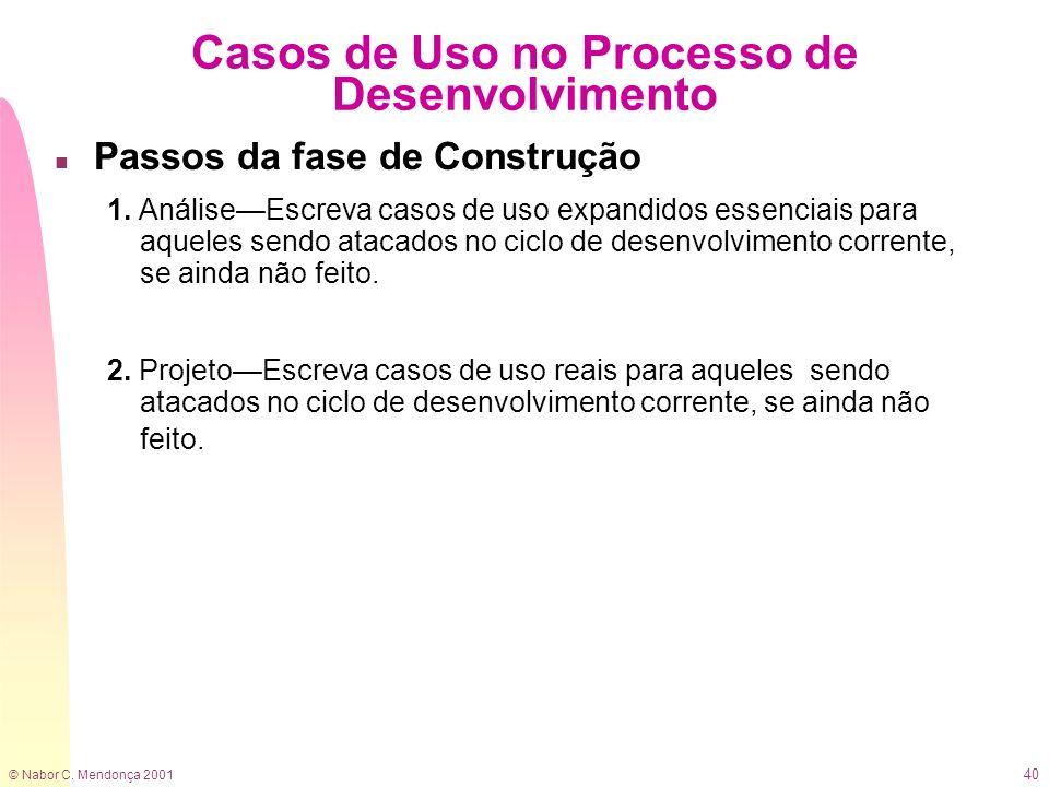 Casos de Uso no Processo de Desenvolvimento