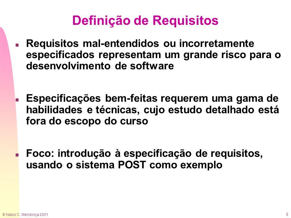Definição de Requisitos