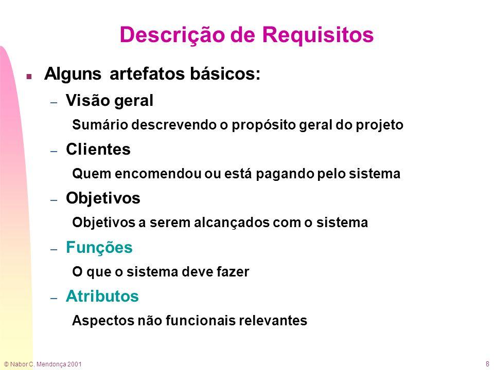 Descrição de Requisitos