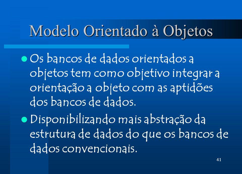 Modelo Orientado à Objetos