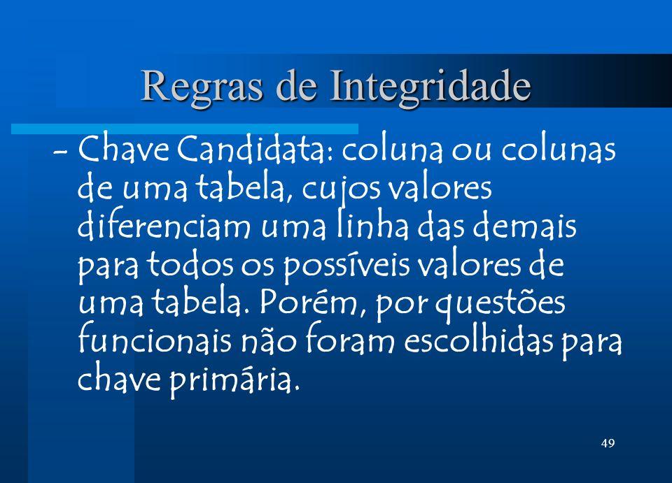 Regras de Integridade