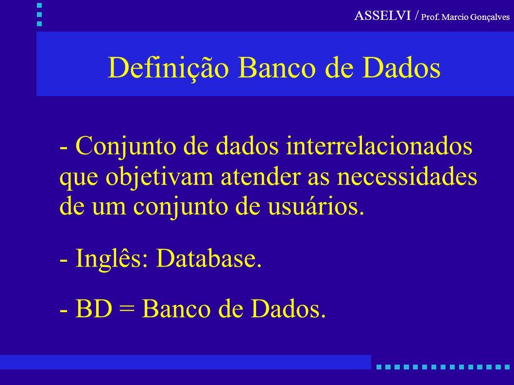 Definição Banco de Dados