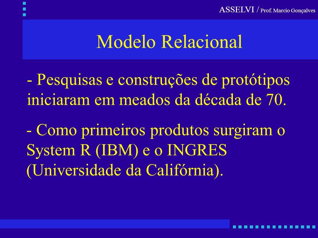Modelo Relacional - Pesquisas e construções de protótipos