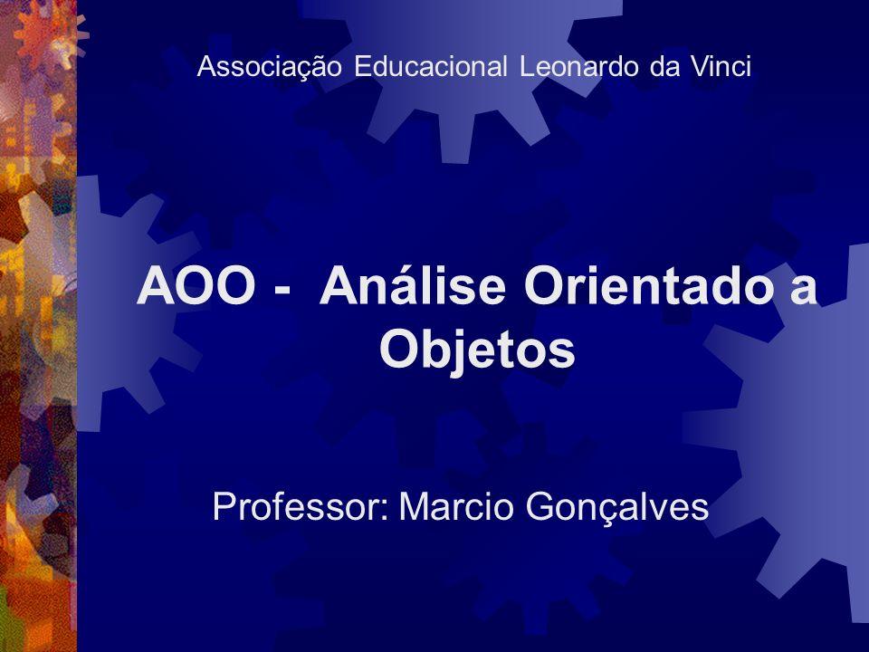AOO - Análise Orientado a Objetos