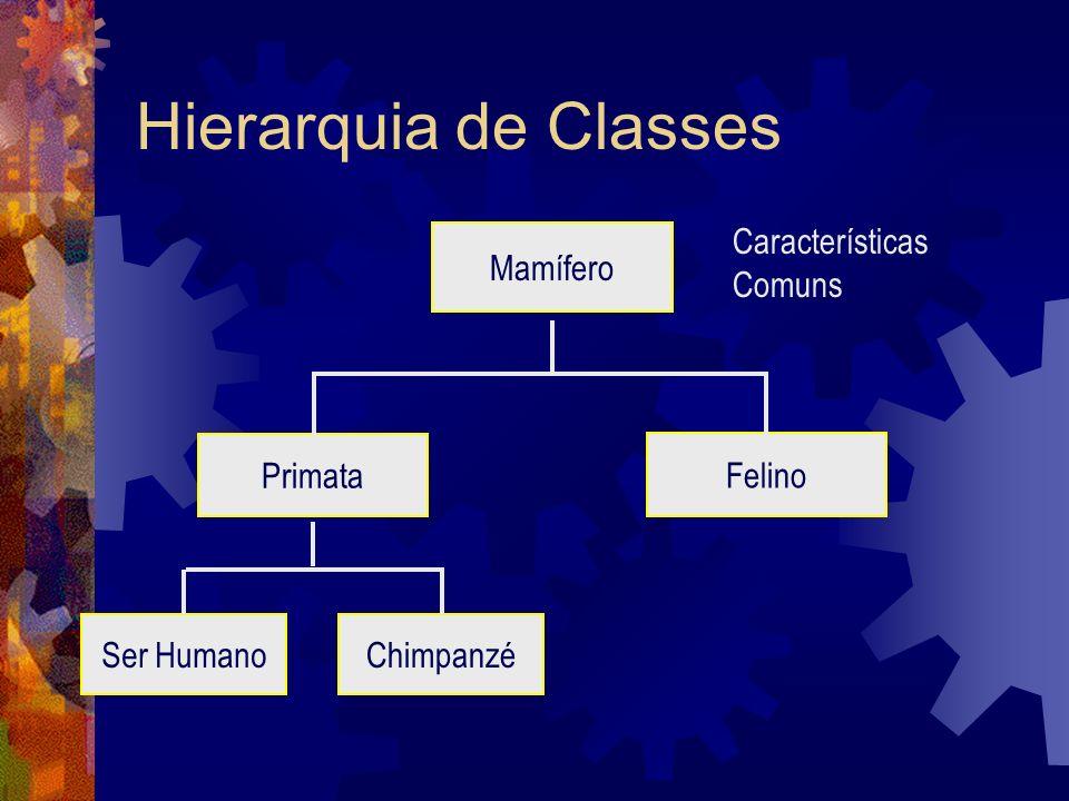 Hierarquia de Classes Características Comuns Mamífero Primata Felino