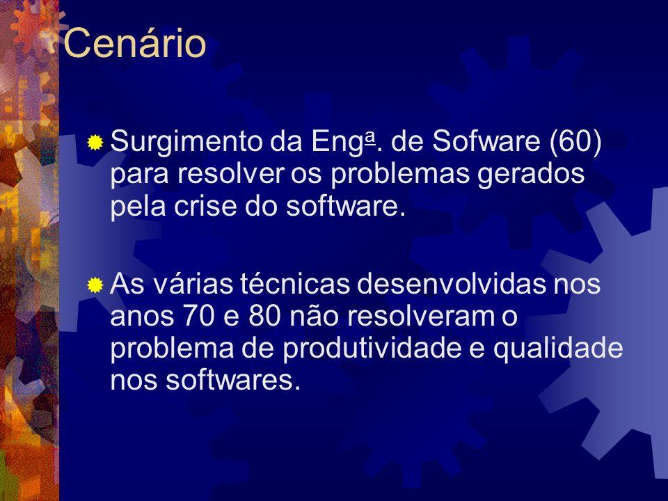 Cenário Surgimento da Enga. de Sofware (60) para resolver os problemas gerados pela crise do software.