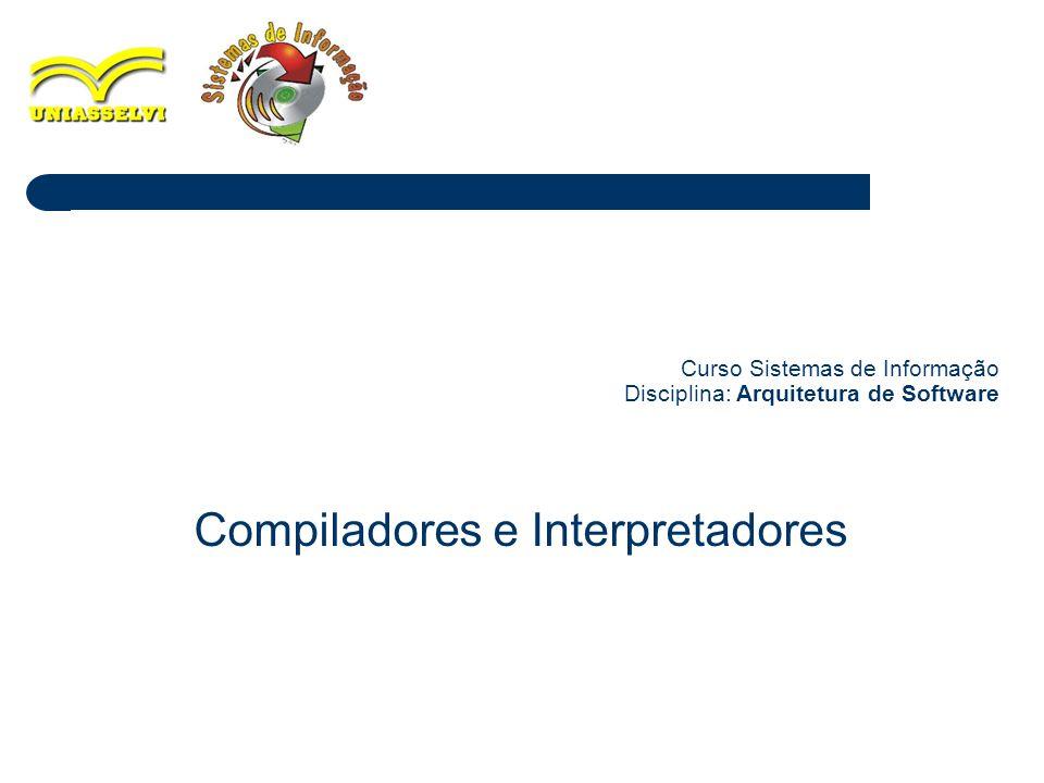 Curso Sistemas de Informação Disciplina: Arquitetura de Software