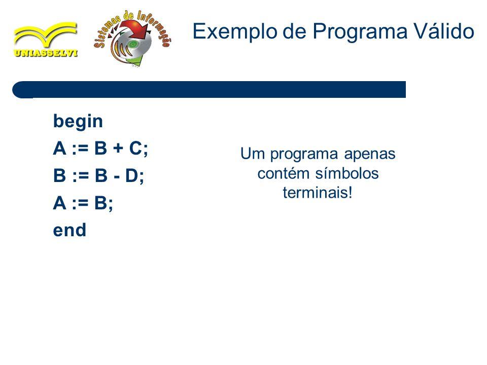 Exemplo de Programa Válido