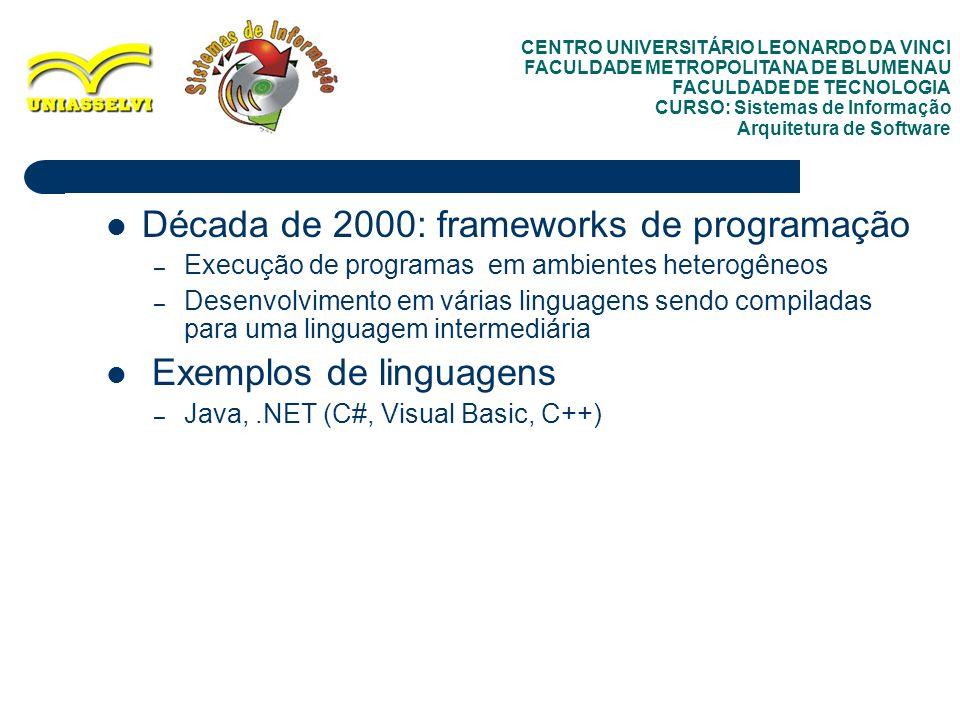 Década de 2000: frameworks de programação