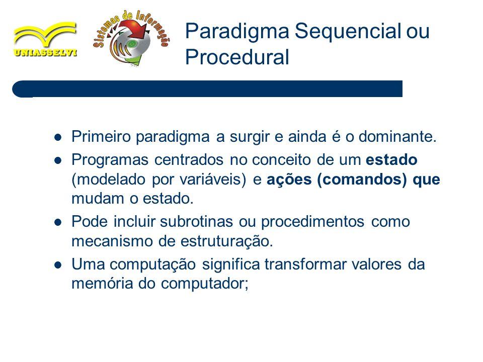 Paradigma Sequencial ou Procedural