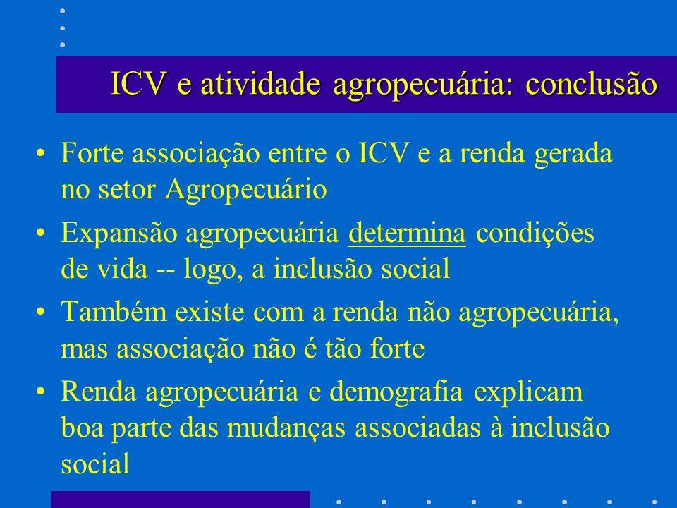 ICV e atividade agropecuária: conclusão