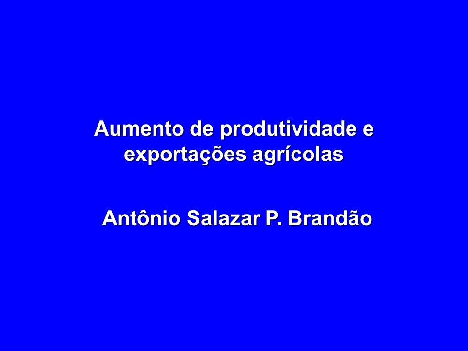 Aumento de produtividade e exportações agrícolas
