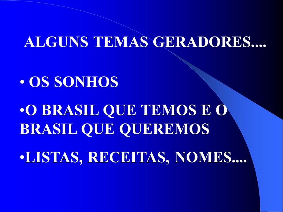 ALGUNS TEMAS GERADORES....