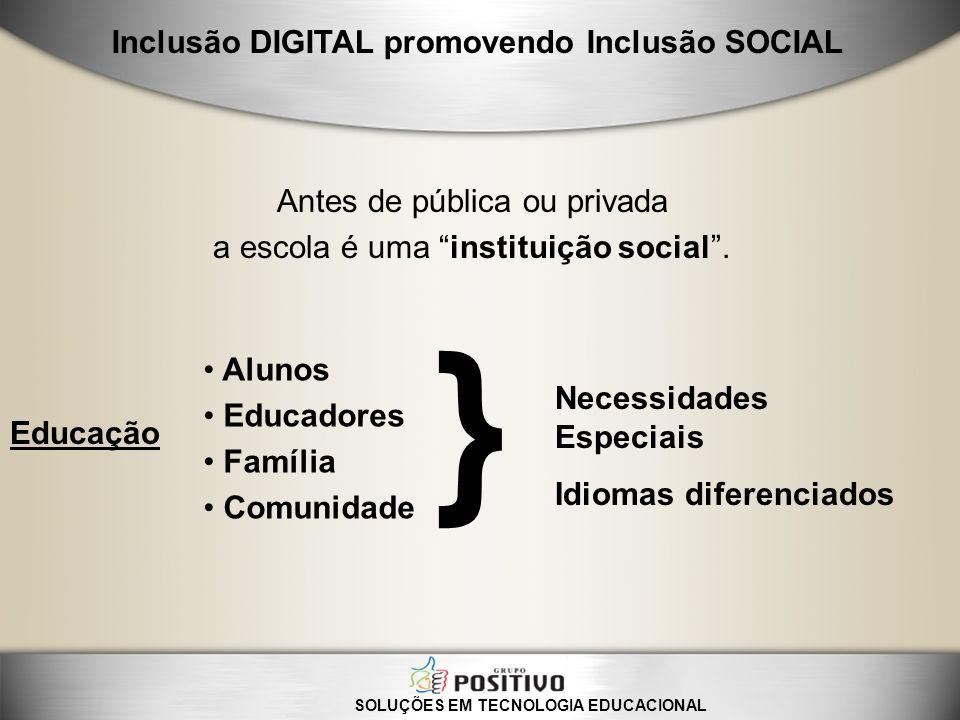 } Inclusão DIGITAL promovendo Inclusão SOCIAL
