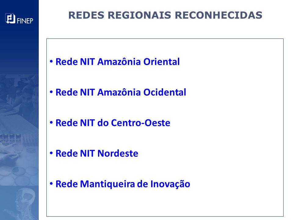 REDES REGIONAIS RECONHECIDAS