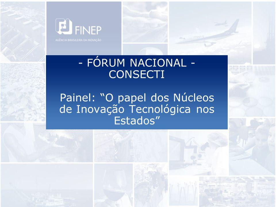 - FÓRUM NACIONAL - CONSECTI Painel: O papel dos Núcleos de Inovação Tecnológica nos Estados
