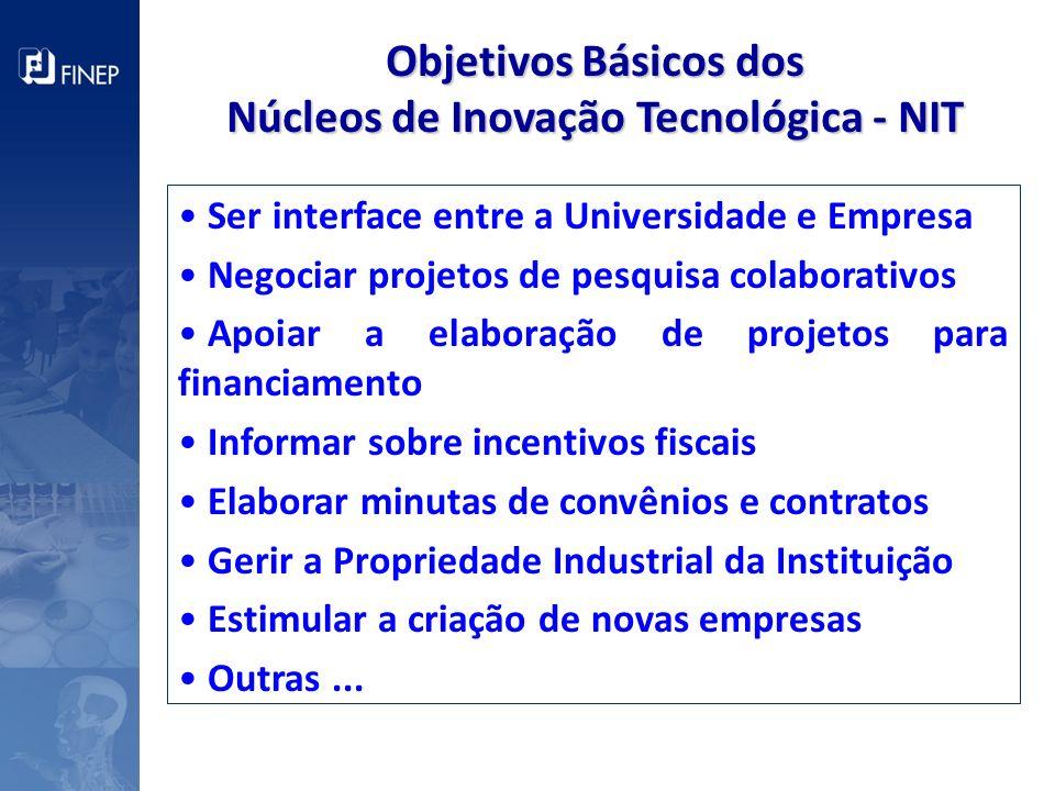 Núcleos de Inovação Tecnológica - NIT