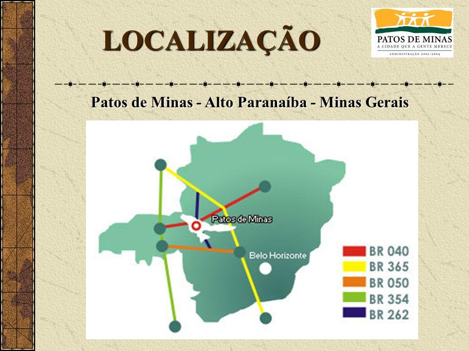 LOCALIZAÇÃO Patos de Minas - Alto Paranaíba - Minas Gerais