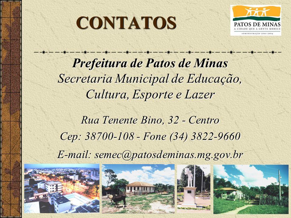 CONTATOS Prefeitura de Patos de Minas