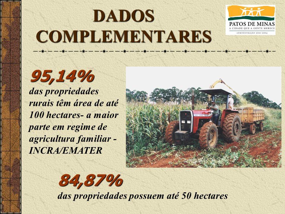 DADOS COMPLEMENTARES 95,14% 84,87%