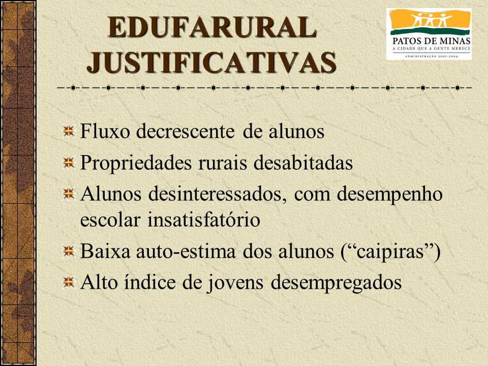 EDUFARURAL JUSTIFICATIVAS