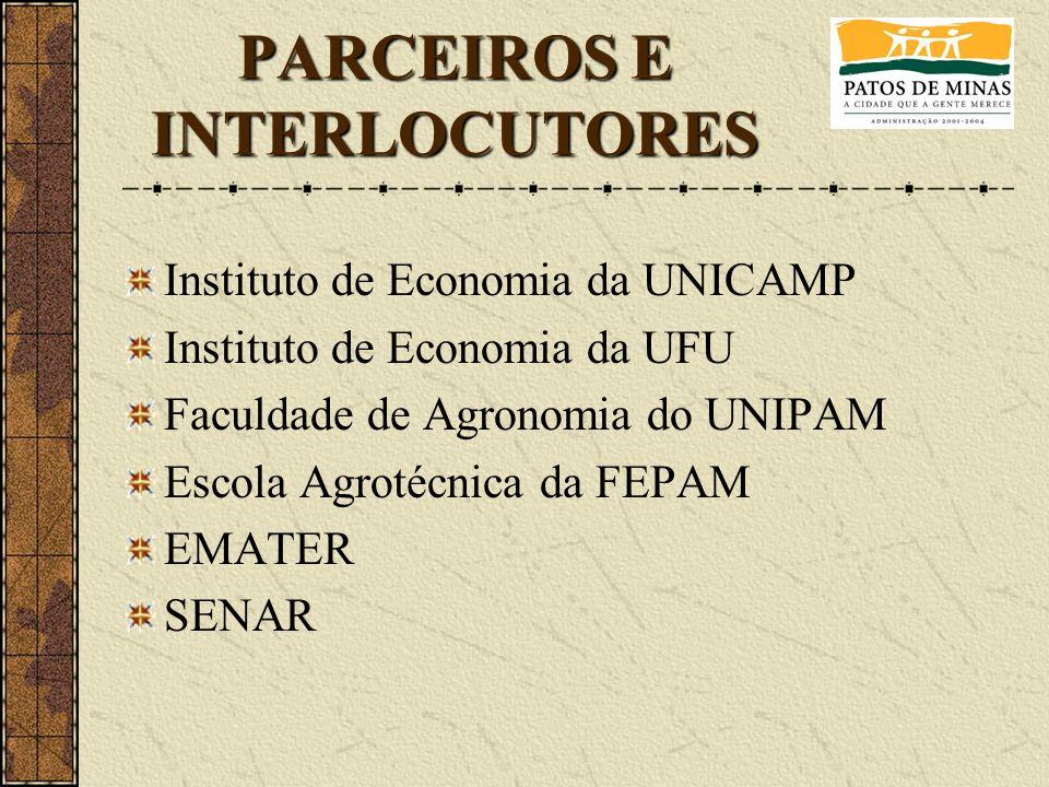 PARCEIROS E INTERLOCUTORES