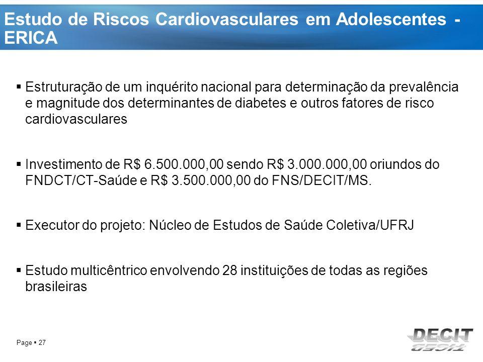 Estudo de Riscos Cardiovasculares em Adolescentes - ERICA