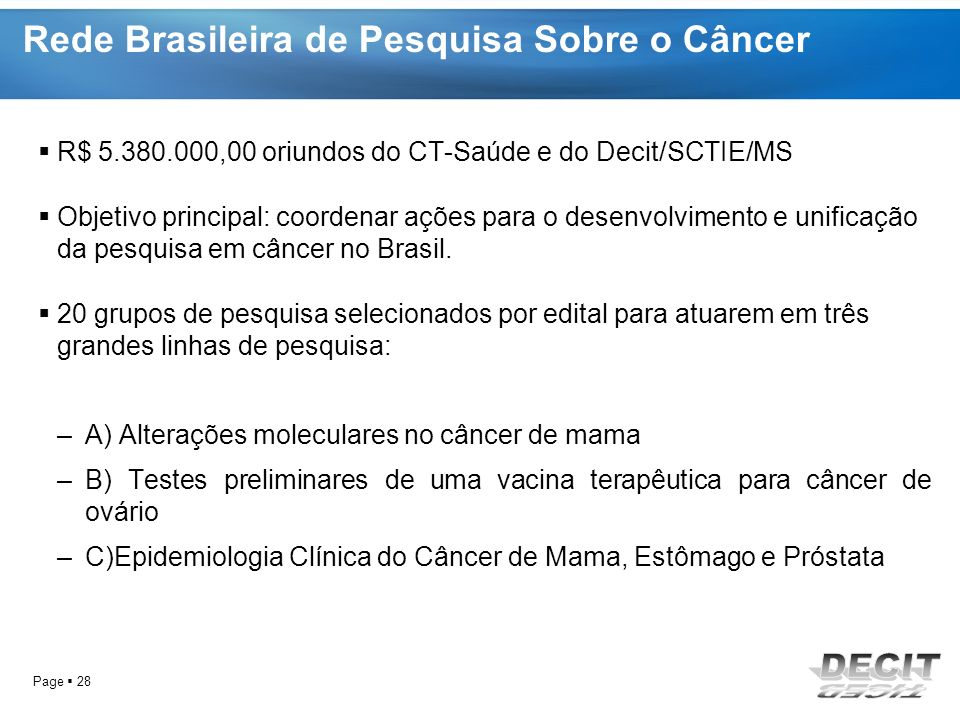 Rede Brasileira de Pesquisa Sobre o Câncer
