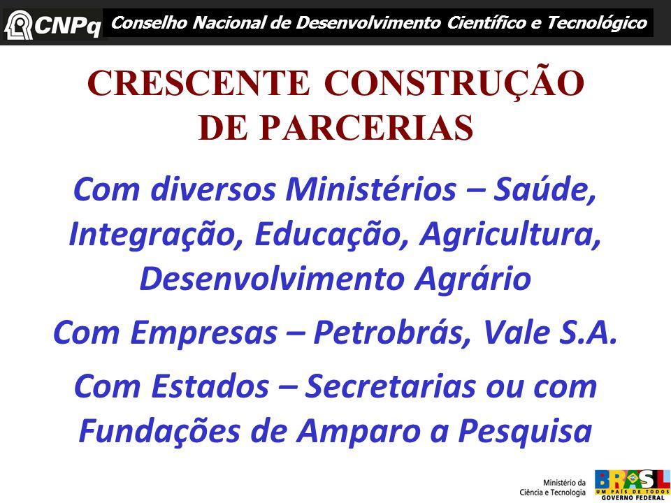 CRESCENTE CONSTRUÇÃO DE PARCERIAS