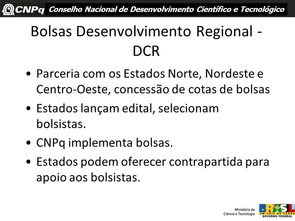 Bolsas Desenvolvimento Regional - DCR