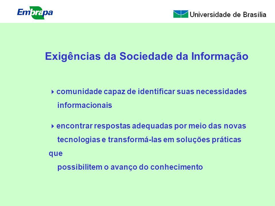 Exigências da Sociedade da Informação