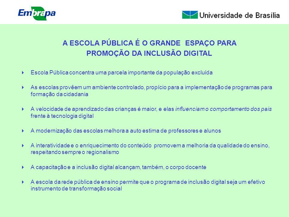 A ESCOLA PÚBLICA É O GRANDE ESPAÇO PARA PROMOÇÃO DA INCLUSÃO DIGITAL