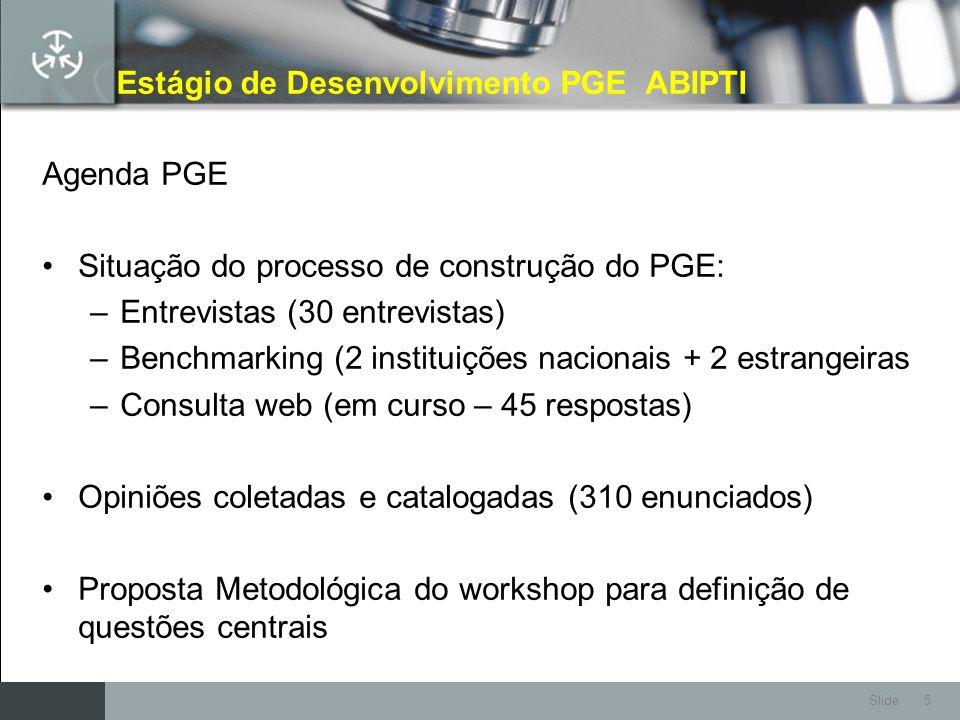 Estágio de Desenvolvimento PGE ABIPTI