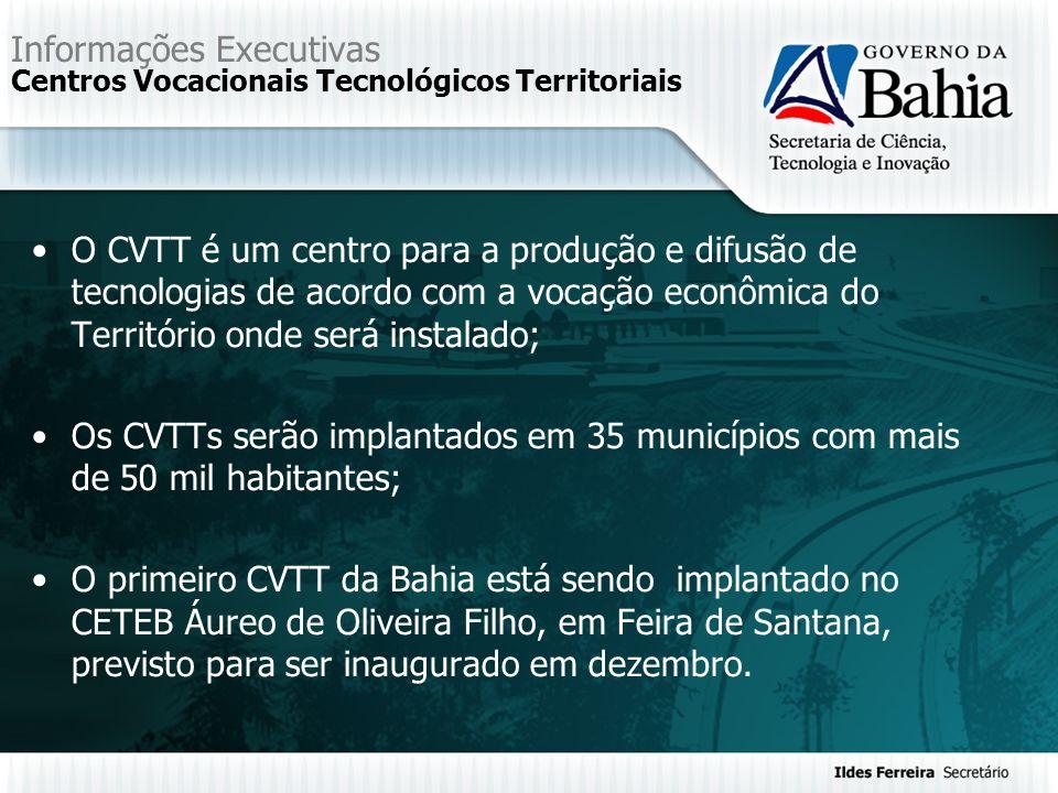 Informações Executivas Centros Vocacionais Tecnológicos Territoriais