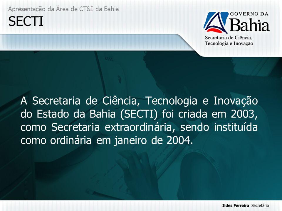 Apresentação da Área de CT&I da Bahia SECTI