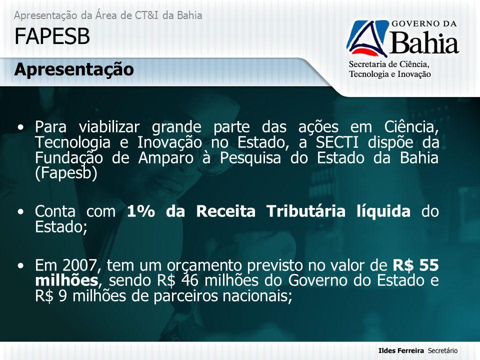 Apresentação da Área de CT&I da Bahia FAPESB