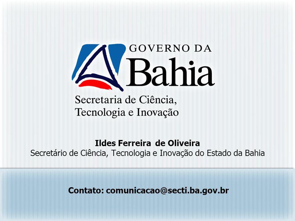 Contato: comunicacao@secti.ba.gov.br