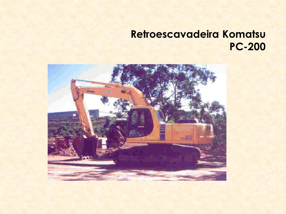 Retroescavadeira Komatsu