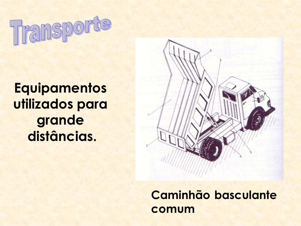 Transporte Equipamentos utilizados para grande distâncias.