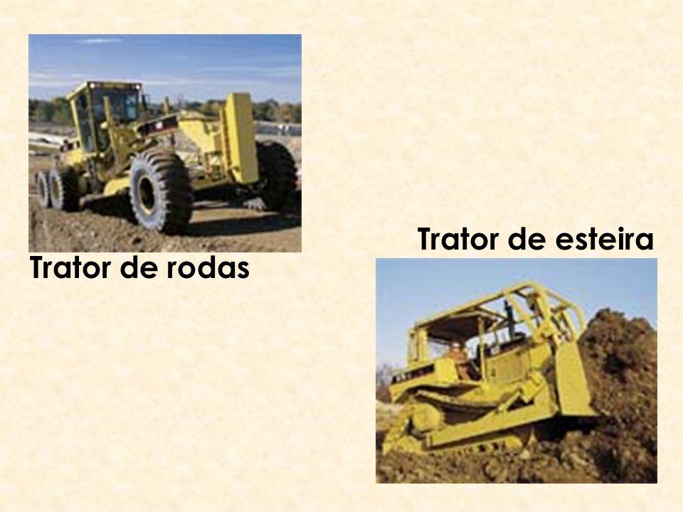 Trator de esteira Trator de rodas