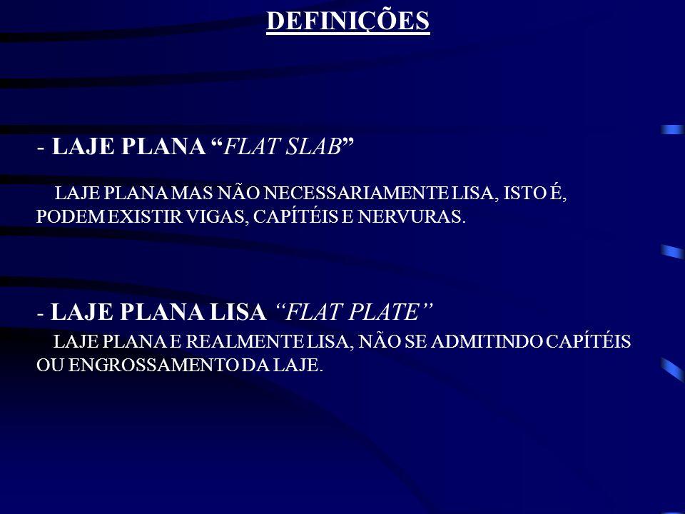 DEFINIÇÕES LAJE PLANA FLAT SLAB