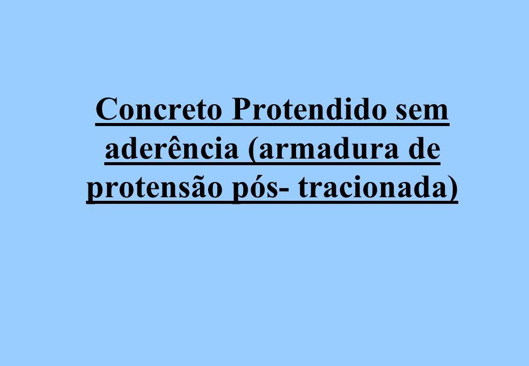 Concreto Protendido sem aderência (armadura de protensão pós- tracionada)