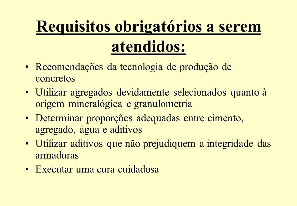 Requisitos obrigatórios a serem atendidos: