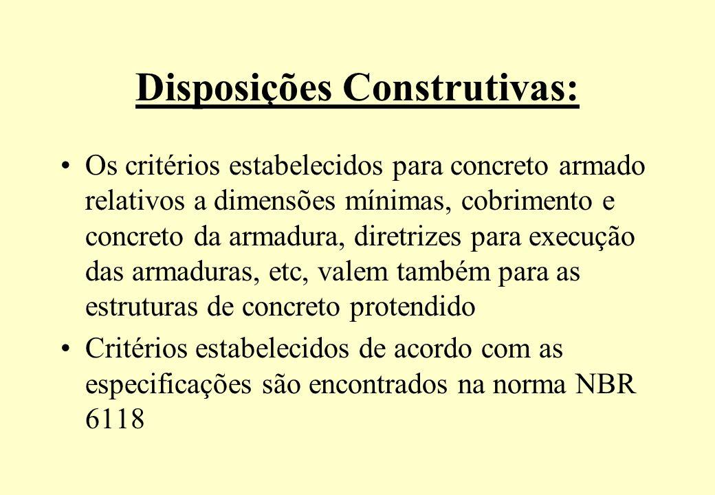 Disposições Construtivas: